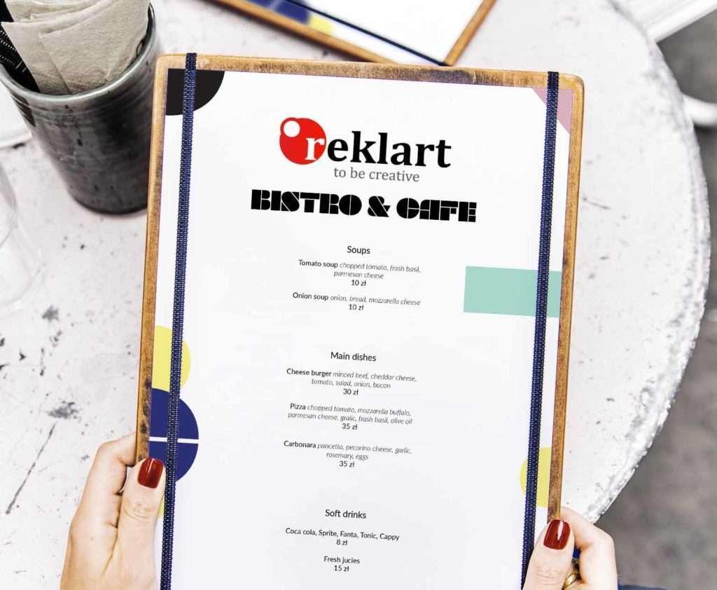 restoran menü tasarımı ve baskısı