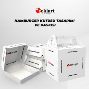 hamburger kutusu baskısı yapımı