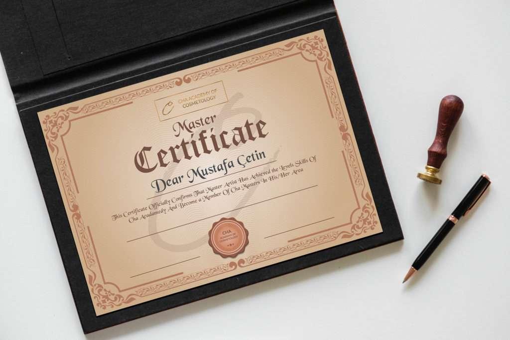 Özel sertifika tasarımı